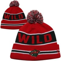 New Era Minnesota Wild Coach Rib-Knit Cuffed Beanie - Red