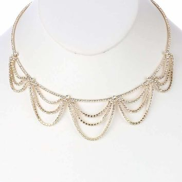 Ember Crystal Triple Layered Necklace