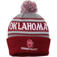 """Oklahoma Sooners Top of the World """"Only One OK"""" Ambient Knit Hat - Crimson/Gray"""