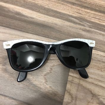 Ray Ban Mayfarer Sunglasses Vintage Black Mother of Pearl Rare B&L Bausch Lomb