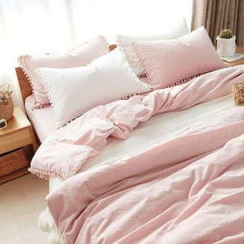 ac VLXC On Sale Home Hot Deal Comfortable Bedroom Cotton Rinsed Denim Bed Sheet Quilt Case [45989986329]