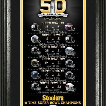 Pittsburgh Steelers Super Bowl 50th Anniversary Bronze Coin Supreme Photo Mint