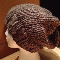 Brown Slouchy Hat (unisex)