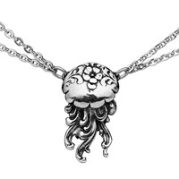 Jellyfish Silver Spoon Necklace