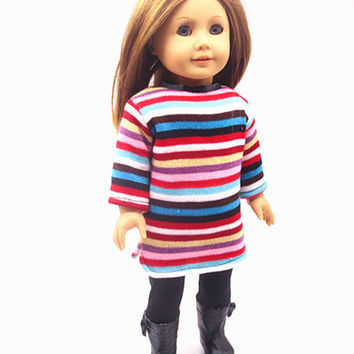 "Free shipping hot 2016 new style Popular 18 inches"" American girl doll clothes dress 2943"