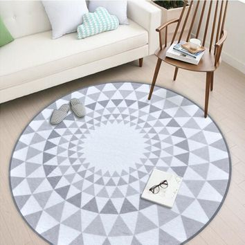 Autumn Fall welcome door mat doormat Nordic Gray Series Round Carpets For Living Room Computer Chair Area Rug Children Play Tent Floor Mat Cloakroom Carpets tapetes AT_76_7