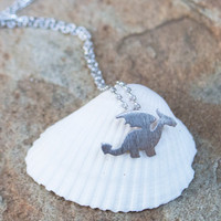 Dainty Dragon Necklace- SLIVER