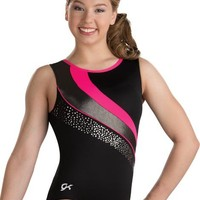 Shocking Coral Swirl Workout Leotard from GK Elite