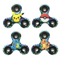 [12904] Pokemon Pikachu Painted Finger Hand Spinner EDC Toy Anti-stress Fidget Gyro ADHD Education