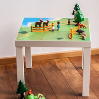 "Play room idea: Furniture sticker ""Playground"" for IKEA LACK side table (1M-ST02-02) - Perfect gift for kids - Furniture not included"