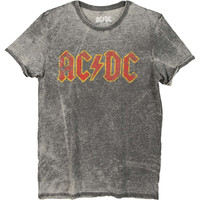 AC/DC Men's  Logo T-shirt Grey Rockabilia
