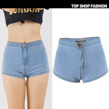 Sexy Women Girl Summer High Waist Ripped Hole Wash Denim Jeans Shorts Pants = 4721872068
