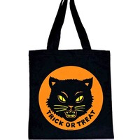 Trick Or Treat Black Cat Tote Bag