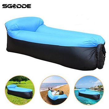 SGODDE camping equipment lazy bag inflatable air sofa beach air bed chair hamac gonflable lounger sofa hinchable laybag