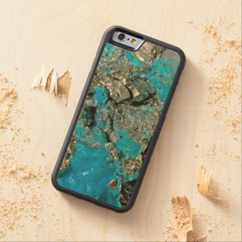 Natural Turquoise Stone Carved® Maple iPhone 6 Bumper