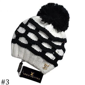 LV Louis Vuitton 2018 autumn and winter knitted wool ball wool cap F-AJIN-BCYJSH #3