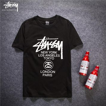 Trendsetter Stussy Women Men Fashion Casual Shirt Top Tee