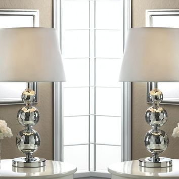 Set of 2 of Broadway Glitz Table Lamps