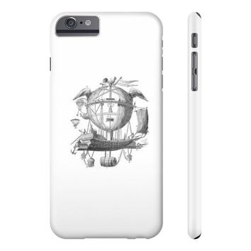 Slim Iphone 6/6s Plus with Hot Air Balloon Flying Airship Art Print