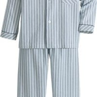 Mens Seersucker PJs | Striped Cotton Pajamas