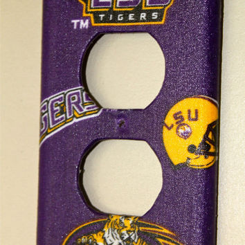 LSU Outlet Cover FREE SHIPPINGPurple Gold Plug by AquaXpressions