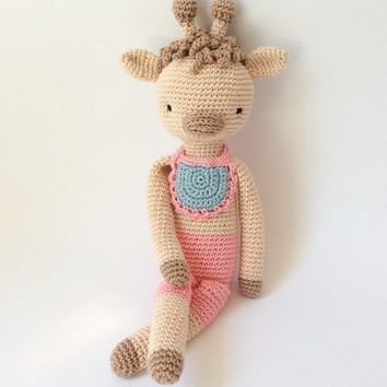 Crochet toy Amigurumi Baby toy Kid plush Crochet Giraffe Stuffed animal Crochet animal