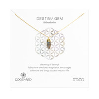 Soul Gems Labradorite Necklace, Gold Dipped | Dogeared