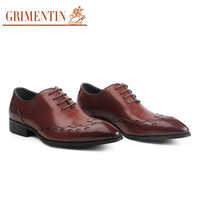 top quality mens dress shoes handmade genuine leather black brown male men shoes for wedding office