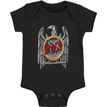 Slayer Boys' Silver Eagle Bodysuit Black Rockabilia
