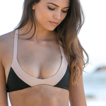 The Girl and The Water - ACACIA Swimwear 2014 - Biarritz Bikini Top Storm - $101
