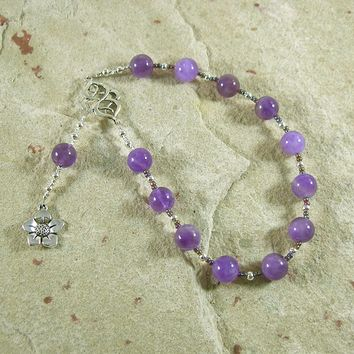 Hypnos Pocket Prayer Beads in Amethyst: Greek God of Sleep