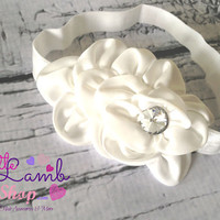 White Sweet Baptism Baby Headband, Flower Girl Baby Headbands, Newborn Girl Head band, Infant Hair Band, Baby photography props, Canada