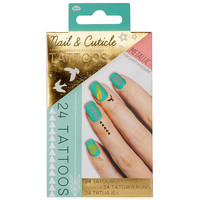 Metallic Nail & Cuticle Tattoos Gold One Size For Women 25811962101