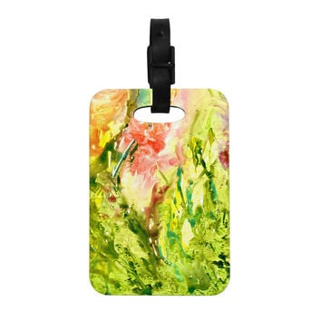 "Rosie Brown ""Green Thumb"" Paint Lime Decorative Luggage Tag"
