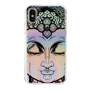 Holographic iPhone Case Cover - Close Up Buddha