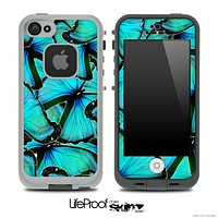 Turquoise Butterfly Bundle V2 Skin for the iPhone 5 or 4/4s LifeProof Case