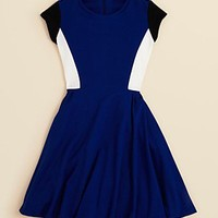 Aqua Girls' Colorblock Fit and Flare Dress - Sizes S-XL | Bloomingdale's