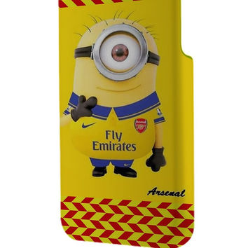 Best 3D Full Wrap Phone Case - Hard (PC) Cover with minion arsenal fc Design
