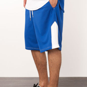 BLUE MESH BASKETBALL SHORT