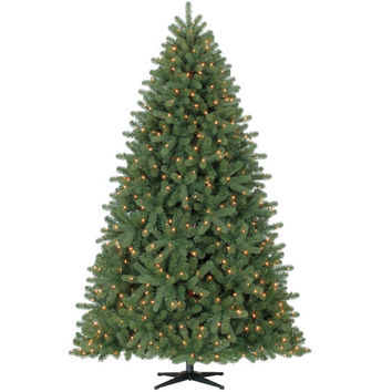 7.5 Ft. Pre-Lit Hamilton Pine PE/PVC Mixed Christmas Tree By Celebrate It™, Clear Lights