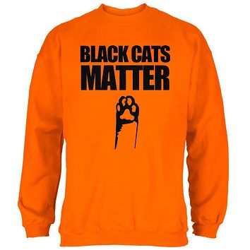 Halloween Black Cats Matter Mens Sweatshirt