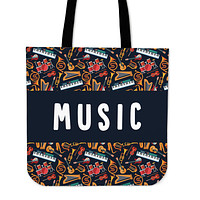 Music Teacher Linen Tote Bag