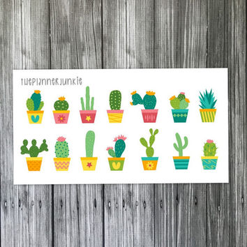 Cute Cactus Stickers [015]