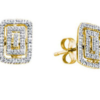 Diamond Fashion Earrings in 10k Gold 0.11 ctw