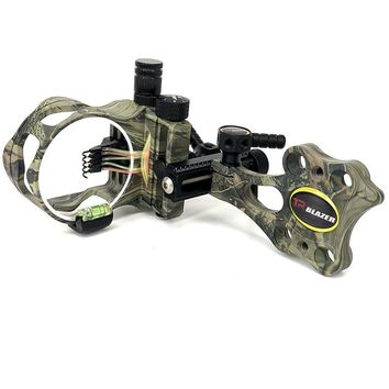 0.19 Optical Fiber 5 pins Compound Bow Sight Micro Adjustable Bow Sight with Light Outdoor Hunting Athletics Bow Sight  Camo