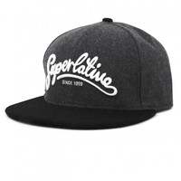 WeSC - Superlative Script s baseball cap grey melange