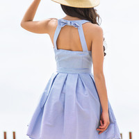 Kimmie Striped Fit and Flare Bow Back Dress