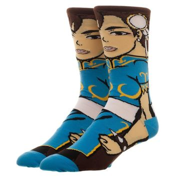 Street Fighter Chun-Li Character Crew Sock