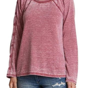 Jack Burnout Fleece Button Sleeve Sweatshirt