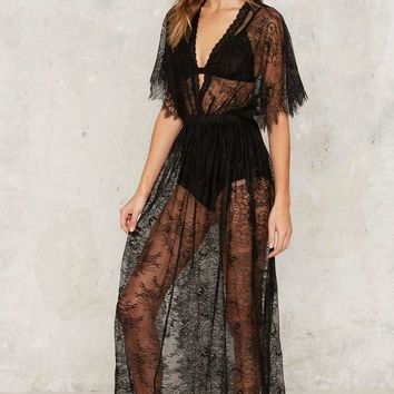 Lace Oddity Sheer Dress